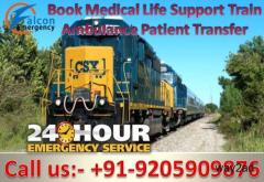 Avail the Tech Life-Support - Falcon Emergency Train Ambulance Services in Guwahati