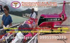 Patna to Delhi Air and Train Ambulance Emergency medical Services