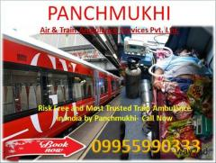 Guwahati to Delhi Panchmukhi Air and Train Ambulance Emergency Service