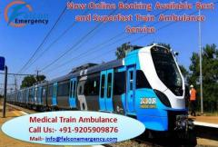 Falcon Train Ambulance Services in Kolkata with World Class Medical Equipment