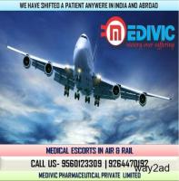Now Get Excellent Medivic Air Ambulance from Guwahati to Delhi