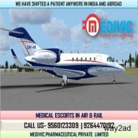 Urgent Hire Medivic Air Ambulance from Kolkata to Delhi at Low-Cost