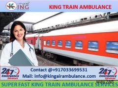 Superfast Train Ambulance from Patna to Delhi by King Ambulance