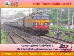 Choose Finest Train Ambulance from Patna to Mumbai by King Ambulance