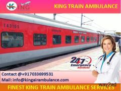 Most Affordable Train Ambulance Ranchi with Medical Team-King Ambulance