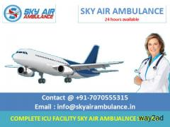 Advanced Air Ambulance in Guwahati with MD Doctor by Sky Ambulance
