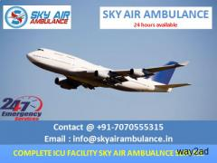 Classy Air Ambulance in Kolkata with Medical Facility-Sky Ambulance