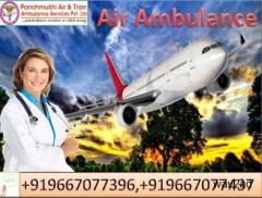 Book Air Ambulance from Guwahati to Delhi by Panchmukhi