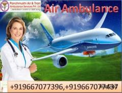 Hire Top Air Ambulance in Dibrugarh by Panchmukhi Ambulance