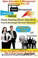 Institute for  hotel management crash course Ranchi