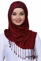 Checkout trendy Red Hijabs with Great Designs from Mirraw