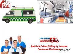 Get Unconscious Patient Shifting from Darbhanga by Jansewa Panchmukhi Ambulance