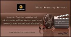 Subtitling Services | Video Subtitling Services