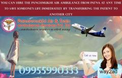 Book Best Air and Train Ambulance from Darbhanga to Delhi