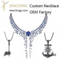 Custom necklace gold plated silver jewelry supplier and wholesaler
