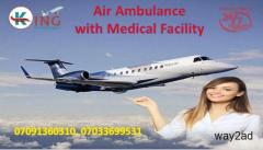 Hire Medical Support Air Ambulance Service in Delhi with Doctor