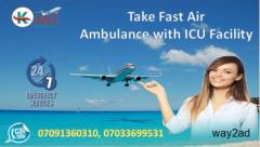 Hire Comfy and Quick Air Ambulance in Dibrugarh by King