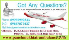 Proper Treatment Offer in Panchmukhi Air Ambulance in Patna