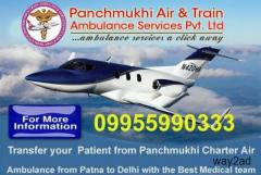 Panchmukhi Air Ambulance in Darbhanga to Bed to Bed Medical Services