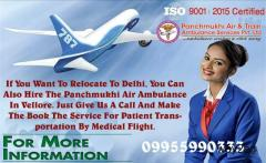 Book an Emergency Care Air Ambulance Service in Vellore – Panchmukhi