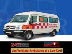 Obtain Ambulance Service in Kankarbagh with Ventilator Facility