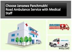 Pick Magnificent Ambulance Service in Koderma by Jansewa Panchmukhi Ambulance