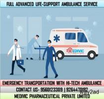 Take First-Class Life-Saver Ambulance Service in Muzaffarpur by Medivic