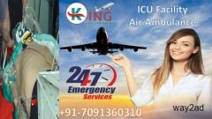 Hire India Best Medical Facility Air Ambulance in Patna by King