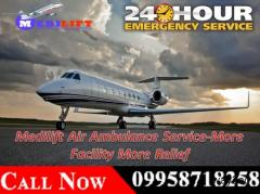 Medilift Charter Air Ambulance in Guwahati - Advanced Supervision