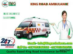 24 hours available Ambulance Service in Darbhanga by King