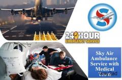 Obtain Air Ambulance from Guwahati to Delhi with Professional Medical Group