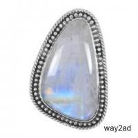 Genuine Wholesale Sterling Silver Moonstone Rings For Women