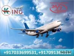 Book Nailing Air Ambulance Service in Jamshedpur at Cheap Rate by King