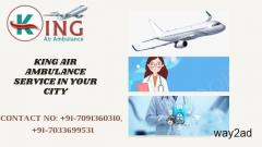 Instant Obtainable Air Ambulance Service in Patna by King