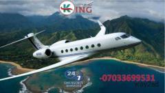 Utilize Splendid Air Ambulance Service in Bhopal Modern ICU by King