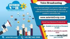 Voice Broadcasting Service Provided by Asterisk2voip Technologies