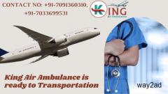 Peerless Air Ambulance Service in Dibrugarh by King