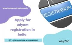 Apply for udyam registration in India @7858802164 & 9905952702