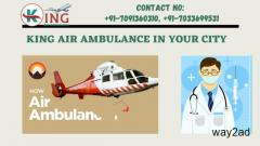 Finest Air Ambulance Service in Kolkata by King with Advanced Medical Tools