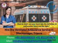 Hire the Ventilator Ambulance Service in Dharmanagar, Tripura