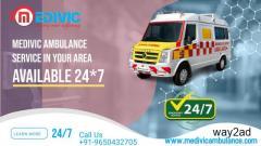 Life Support Ambulance Service in Dharmatala, Kolkata by Medivic