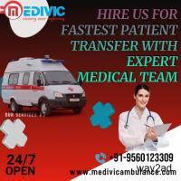 Medivic Ambulance Service in Camac Street, Kolkata with Ventilator
