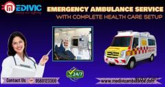 Patient Relocation Ambulance Service in Kalighat, Kolkata by Medivic