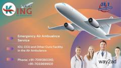 Well Maintained Air Ambulance Service in Darbhanga with Sophisticated Tools