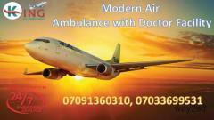 Take Top-Raking Exigency Air Ambulance Service in Delhi by King
