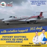 Air Ambulance Service in Varanasi Hire by King with Finest Medical
