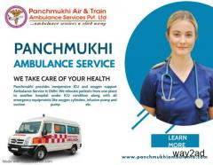 Panchmukhi Ambulance Service in Vasant Kunj, Delhi with CPR