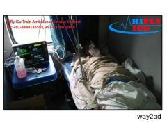 Get Hire Low-Budget ICU Train Ambulance in Ahmedabad By Hifly ICU